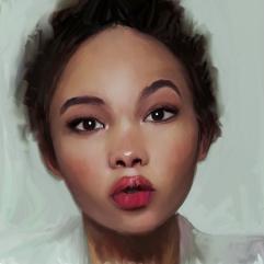 Girl metis red lips